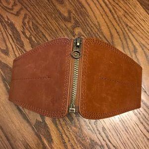H&M elastic zip closure waist belt - XS/S